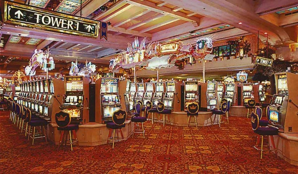 Jogos no hotel Excalibur em Las Vegas