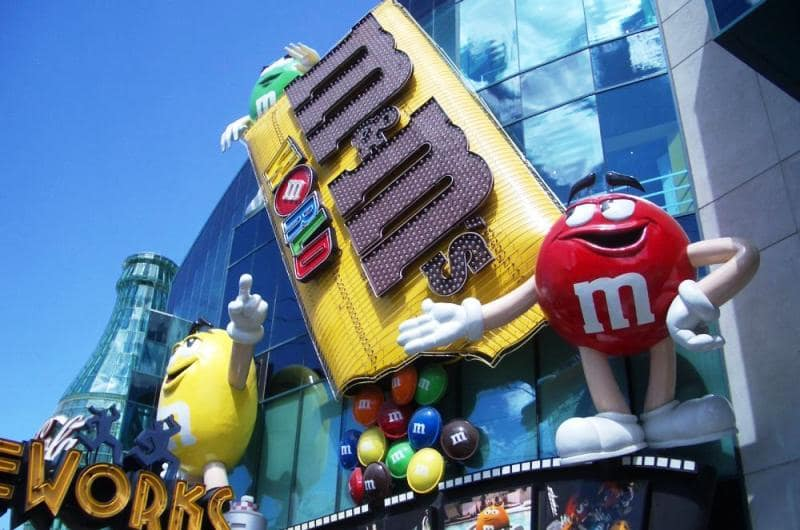 Loja M&M World em Las Vegas