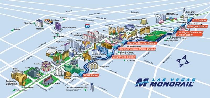 Sobre o trem Monorail em Las Vegas