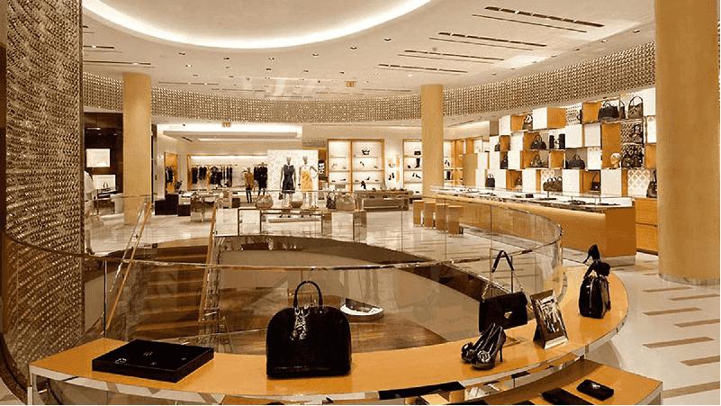 Lojas no shopping Crystals City Center em Las Vegas