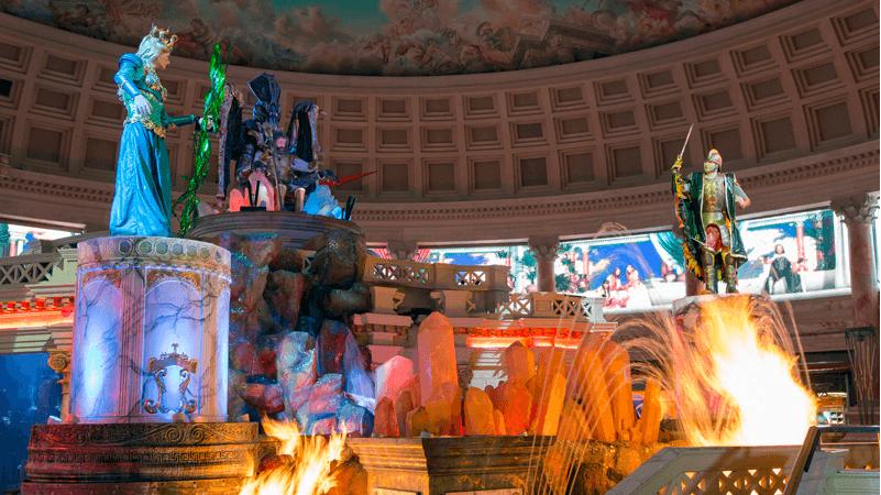Atrações no shopping The Forum Shops em Las Vegas