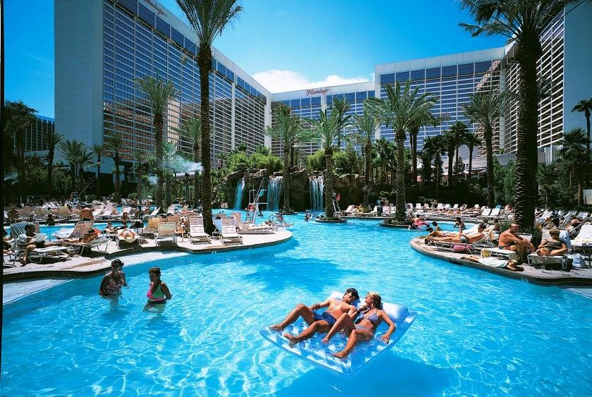 Piscinas do hotel Flamingo em Las Vegas
