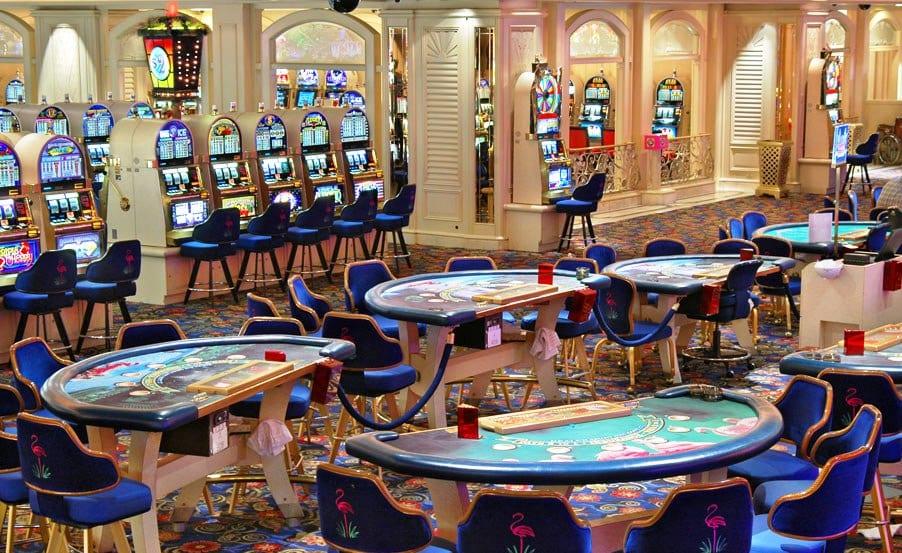 Casino do hotel Flamingo em Las Vegas
