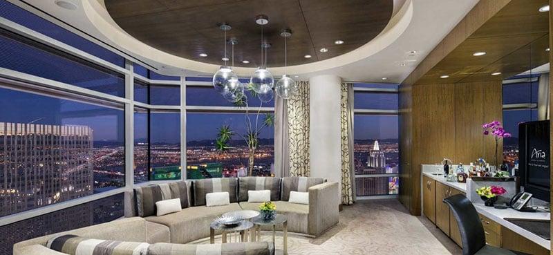 Diferenciais do hotel cassino Aria em Las Vegas