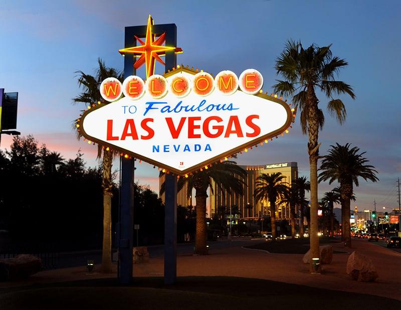 Placa Welcome to Fabulous Las Vegas