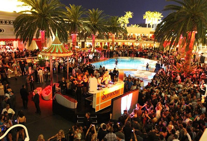 Encore Beach Club Pool Party em Las Vegas