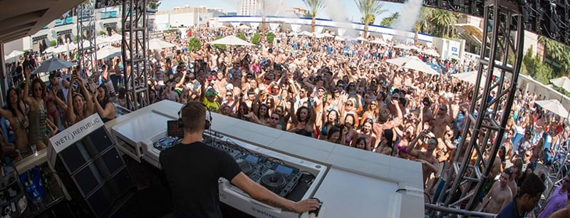 Wet Republic Pool Party em Las Vegas