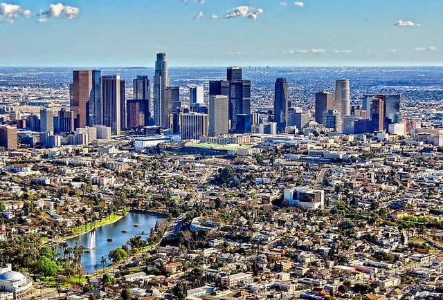 Transporte público em Los Angeles na Califórnia