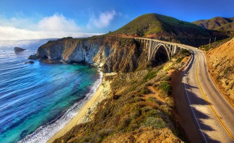 Viagem de carro pela Califórnia