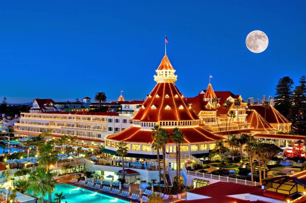 Hotel Del Coronado em Coronado na Califórnia
