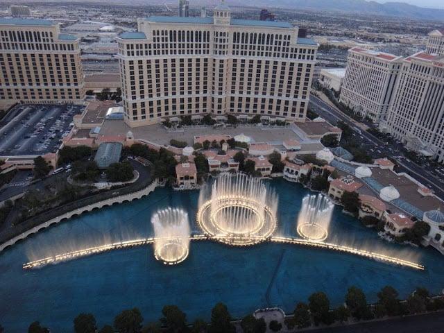 Show gratuito das fontes do Bellagio em Las Vegas