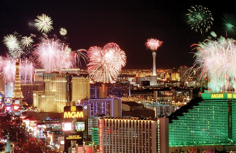 Festas de Reveillon de 2016 em Las Vegas