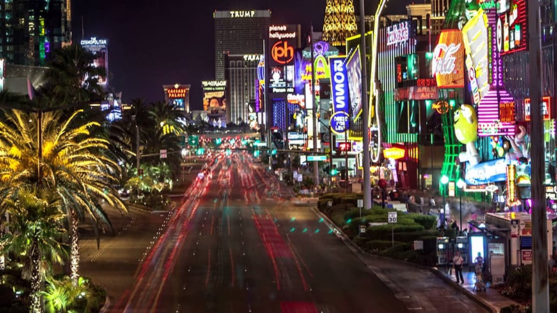 Empresas minúsculas na Strip em Las Vegas