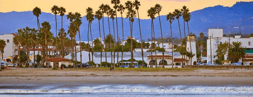 El Capitan Beach em Santa Barbara na Califórnia