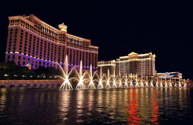 Show das fontes do Bellagio em Las Vegas