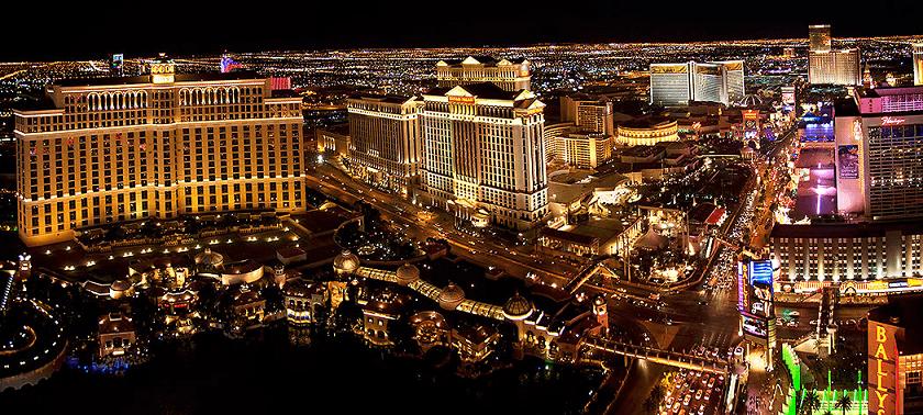 Strip de noite em Las Vegas