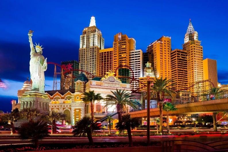 Estátua da Liberdade no Hotel New York-New York em Las Vegas