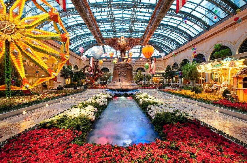 Estufa e Jardim Botânico do Bellagio em Las Vegas