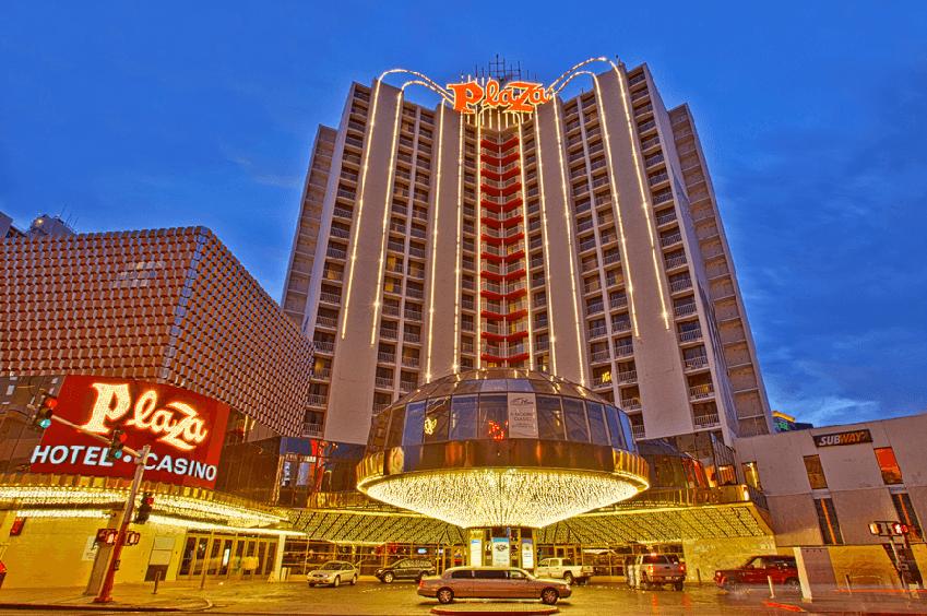 Hotel Cassino Plaza no centro de Las Vegas