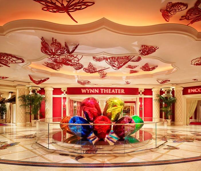 Esculturas dentro do Hotel Wynn em Las Vegas