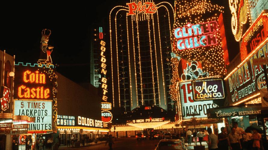Luzes de neon em Downtown Las Vegas