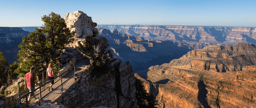 Bright Angel Point no North Rim do Grand Canyon
