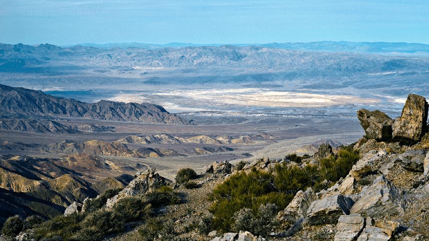 Aguereberry Point no Death Valley