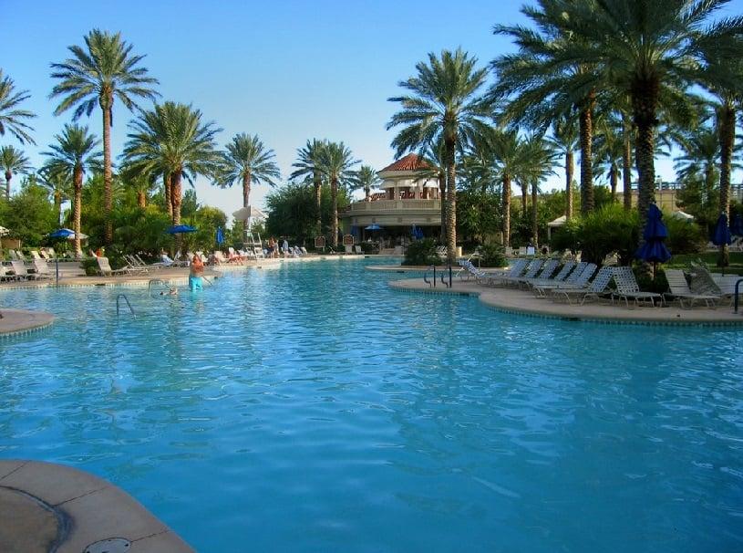 Piscina no Hotel JW Marriott em Las Vegas