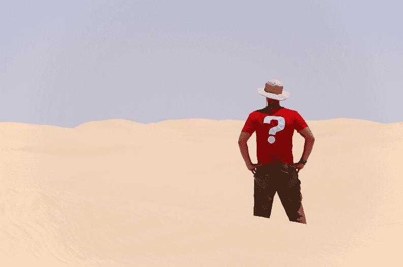 Localização no deserto em Las Vegas