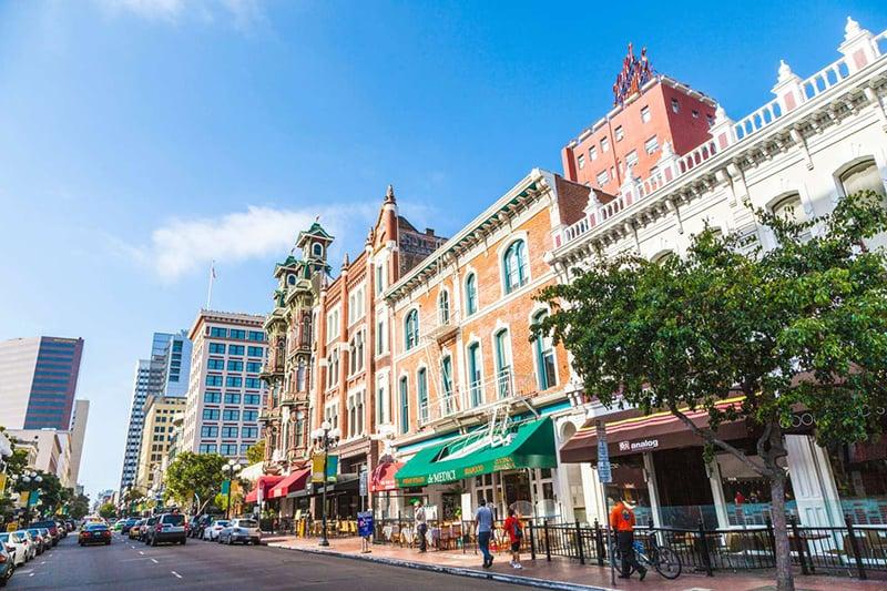 Conhecendo San Diego saindo de Las Vegas: Gaslamp Quarter