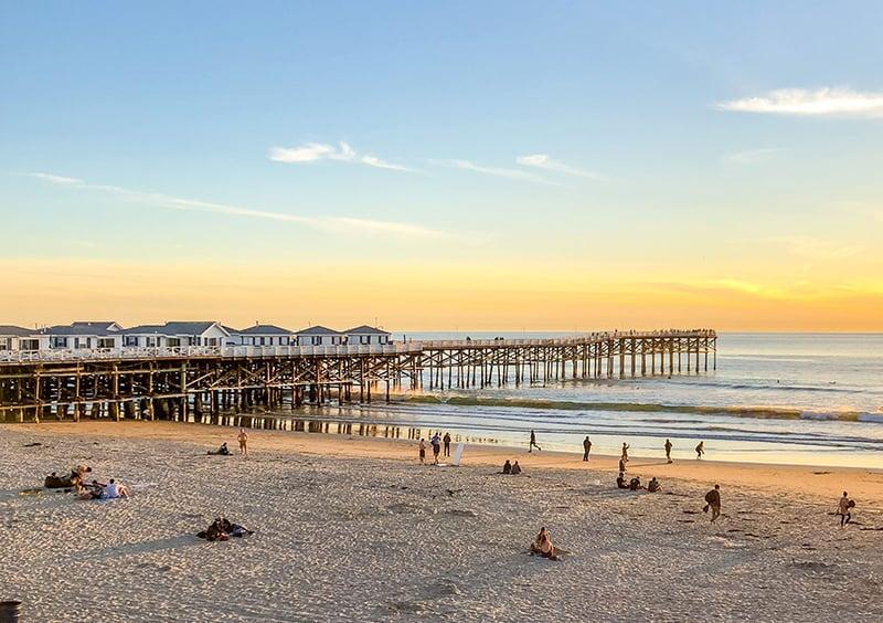 Praia Pacific Beach em San Diego
