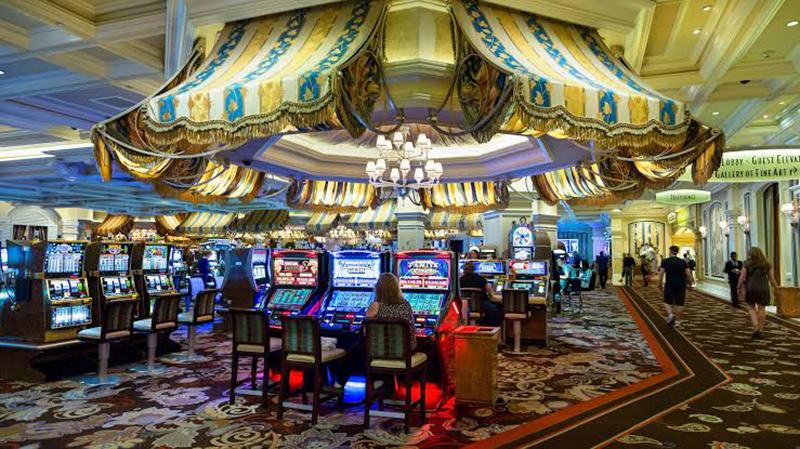 Cassino do hotel Paris em Las Vegas